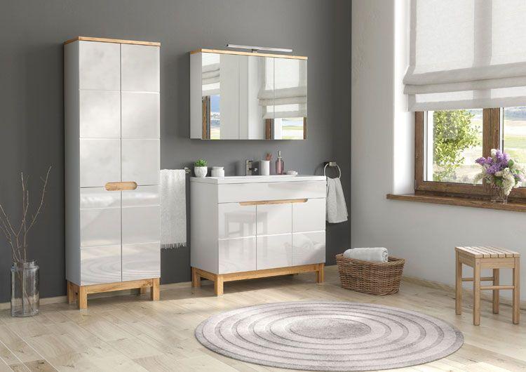 zestaw szafek łazienkowych