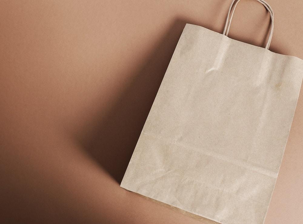 papierowa torba z możliwością nadruku
